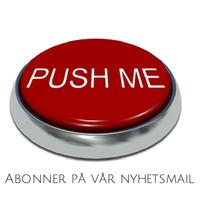 foto av rød knapp hvor det står push me. tekst under sier abonner på vår nyhetsmail