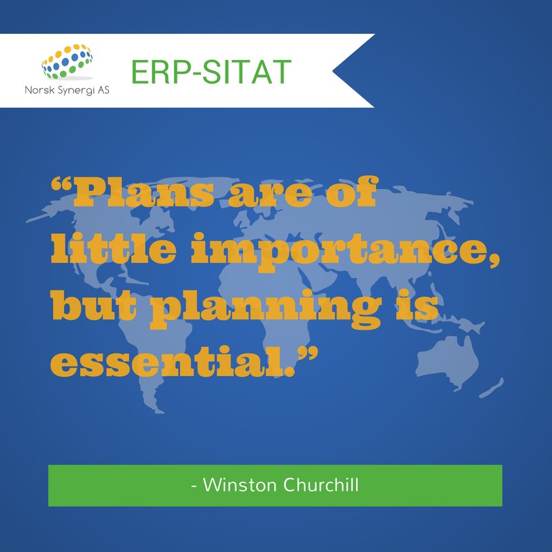 Grafisk element med sitat av Winston Churchill - Plans are of little importance, but planning is essential
